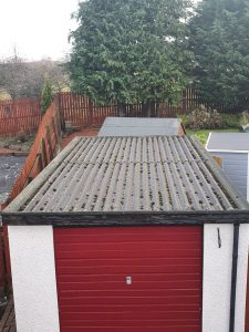 asbestos garage roof replacement in Glasgow
