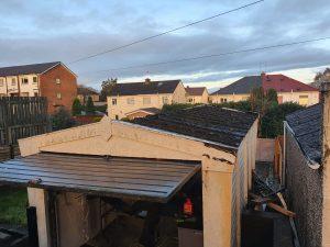 old asbestos garage roof Glasgow